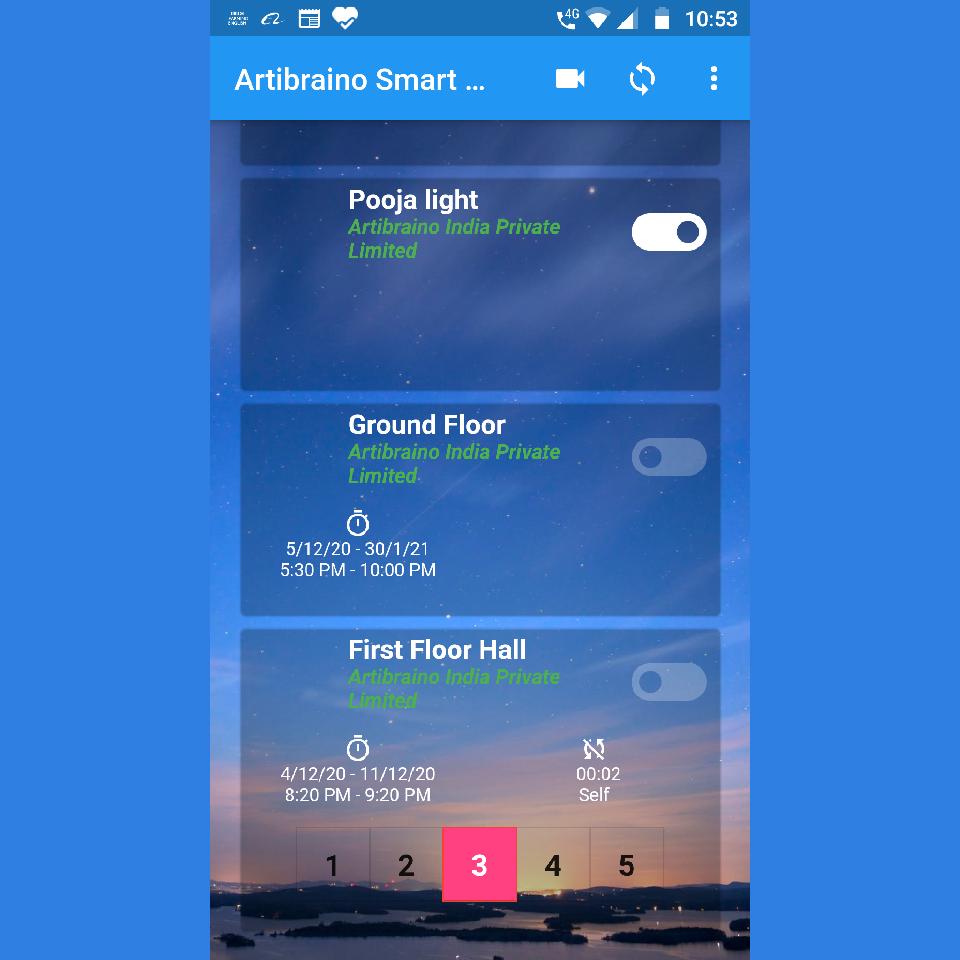 Artibraino home smart app